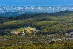 Picnic site of Le Maido at Reunion Island. Aerial view of a picnic site of Le Maido at Reunion Island Stock Photos