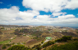 Aerial view from Pico de Bandama Stock Photos