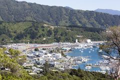 New Zealand`s Picton Resort Town Royalty Free Stock Image