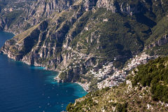 Aerial view of the pictoresque Positano village Royalty Free Stock Images