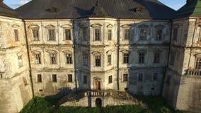 Aerial view of Pidgoretsky castle. Ukraine. 4K stock footage