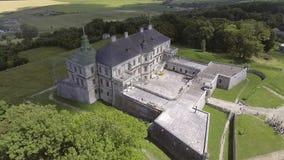 Aerial view of Pidhorodetsky Castle in Lviv region, Ukraine stock footage