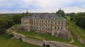 Aerial view of Pidhorodetsky Castle in Lviv region, Ukraine stock video