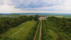 Aerial view of Pidhorodetsky Castle in Lviv region, Ukraine stock video footage
