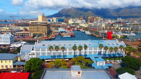 Aerial view of pier in Cape Town Stock Photography