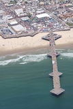 Aerial view of pier at Pismo Beach, CA Stock Images
