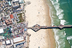 Aerial view of pier at Pismo Beach, CA Stock Photo