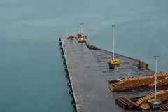 Aerial view of a pier Stock Photography