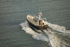 Aerial view of pilot boat Royalty Free Stock Photography