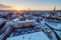 Aerial view of Pilsen Royalty Free Stock Photo