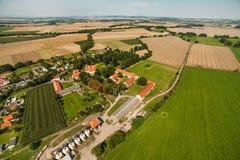 Aerial view of Piotrowice Nyskie village near Otmuchow town Stock Photos