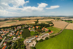 Aerial view of Piotrowice Nyskie  village near Otmuchow town in Stock Images