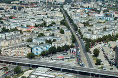 Aerial view at Pipera passage Stock Photography