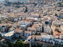 Aerial view of Pizzo Calabro, Calabria, tourism Italy. Panoramic view of the small town of Pizzo Calabro by the sea Stock Photos