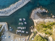 Aerial View of Pizzo Calabro, harbor, Calabria, Italy Royalty Free Stock Photography