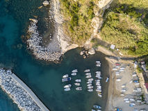 Aerial View of Pizzo Calabro, harbor, Calabria, Italy Stock Photos