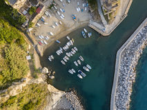 Aerial View of Pizzo Calabro, harbor, Calabria, Italy Stock Images