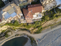 Aerial View of Pizzo Calabro, harbor, Calabria, Italy Royalty Free Stock Photo