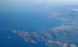 Aerial view  from the plane Stock Images