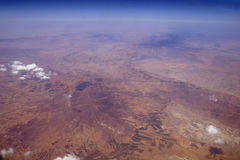 Aerial view  from the plane Stock Photo