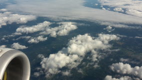 Aerial view from a plane Royalty Free Stock Images