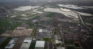 Aerial view from a plane Royalty Free Stock Photos