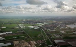 Aerial view from a plane Royalty Free Stock Photography