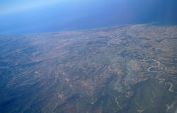 Aerial view  from the plane Royalty Free Stock Photography