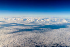 Aerial View Of Planet Earth As Seen From 40.000 Feet. Altitude royalty free stock image