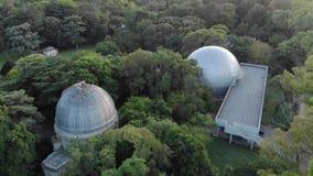 Aerial view of the Planetarium of the City of La Plata,
