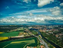 Aerial view of plantation field royalty free stock image