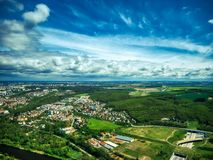 Aerial view of plantation field royalty free stock images