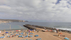Aerial view of Playa de Los Cristianos - Tenerife, Spain Royalty Free Stock Photo
