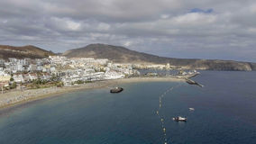 Aerial view of Playa de Los Cristianos - Tenerife, Spain Stock Images