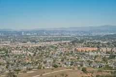 Aerial view of Playa Del Rey area. From airplane, Los Angeles, California Royalty Free Stock Photos