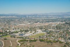 Aerial view of Playa Del Rey area. From airplane, Los Angeles, California Stock Photos