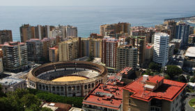 Aerial view of Plaza de Toros de Malaga Stock Images
