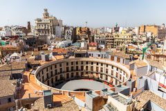 Aerial view of Plaza Redonda, Valencia, Spain Stock Photos