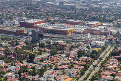 Aerial view of plaza satelite shopping mall Royalty Free Stock Photo