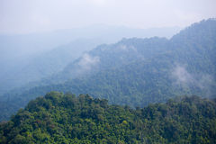 Aerial view of plentifully forest ,Thailand. Aerial view over chain of mountainl at plentifully tropical rain forest in Thailand Stock Image