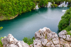 Aerial view  in Plitvice National Park Royalty Free Stock Photos