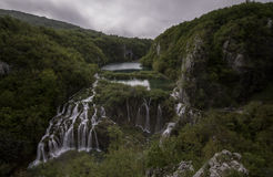 Aerial view on Plitvice National Park waterfalls Stock Photography