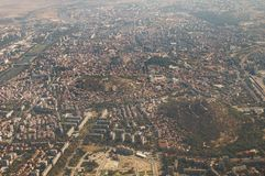 Aerial  view of Plovdiv  - Mladezhki Halm Royalty Free Stock Photography