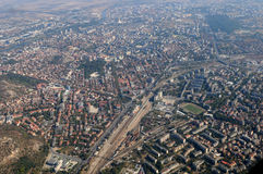 Aerial  view of Plovdiv Stock Photo