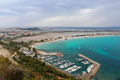 Poetto beach, Cagliari, Sardinia, Italy Stock Photography