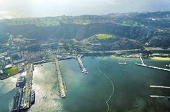 Aerial view of Point Loma San Diego Royalty Free Stock Image
