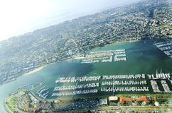 Aerial view of Point Loma San Diego Stock Photography
