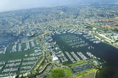 Aerial view of Point Loma, San Diego Royalty Free Stock Images