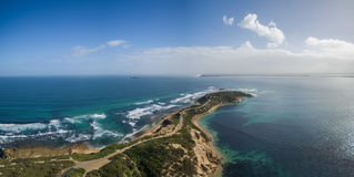 Aerial view of Point Nepean National Park Royalty Free Stock Images