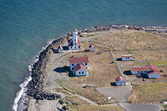 Aerial View of Point Wilson Lighthouse Royalty Free Stock Photography